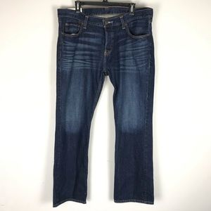 Hollister mens the boot leg jeans dark wash